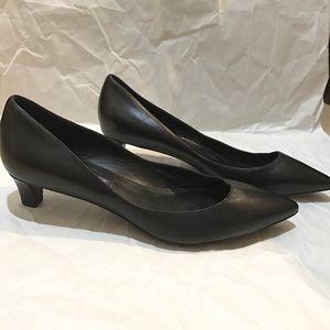 Ralph Lauren Purple Label, Black Leather Heels
